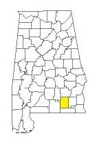 map of Alabama counties with Coffee County highlighted