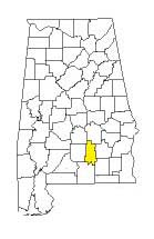 map of Alabama counties with Crenshaw County highlighted